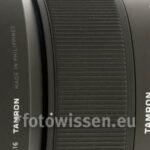 Test Tamron SP 85mm F/1.8 Di VC USD Objektiv
