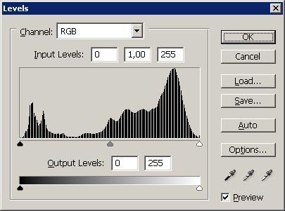 Tonwertkurve nach der Bearbeitung - RAW JPG Vergleich