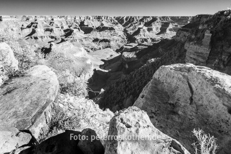 Digitales Infrarotfoto im Grand Canyon, entwickelt in Lightroom 6 CC