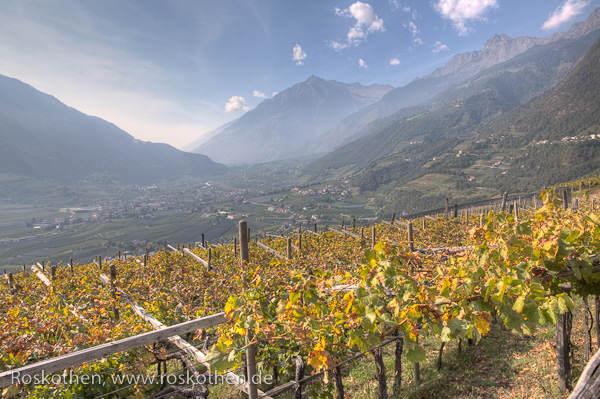 Foto aus HDR erstellt - Meran im Herbst © Peter Roskothen HDR-Fotografie