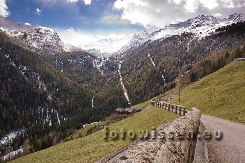 Landschaftsfoto Meran, Blende 22, 24mm Weitwinkel - Wie fotografiere ich gute Landschaftsfotos?