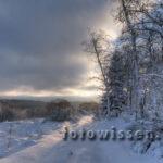 HDR Foto aus der Eifel im Winter 2010