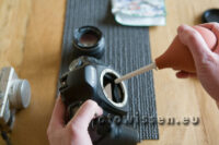 Klistierspritze für Reinigung von SLR oder Systemkameras