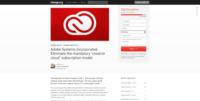 Petition gegen Adobe Creative Cloud / Adobe CC