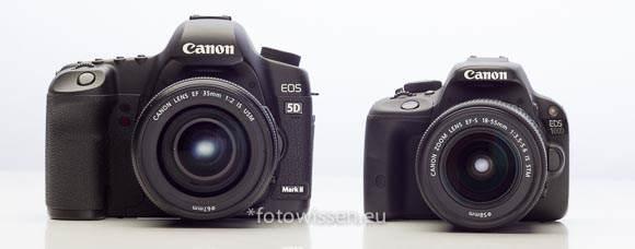 Vergleich EOS 5D Mark II mit EOS 100D
