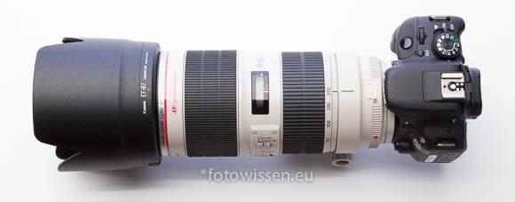 EOS 100D mit 70-200 f2.8 Zoomobjektiv