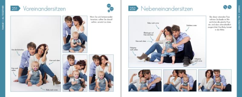 Posen für Familien Familienfotos