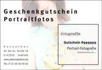 Geschenkgutschein Fotokurs Portrait / Akt