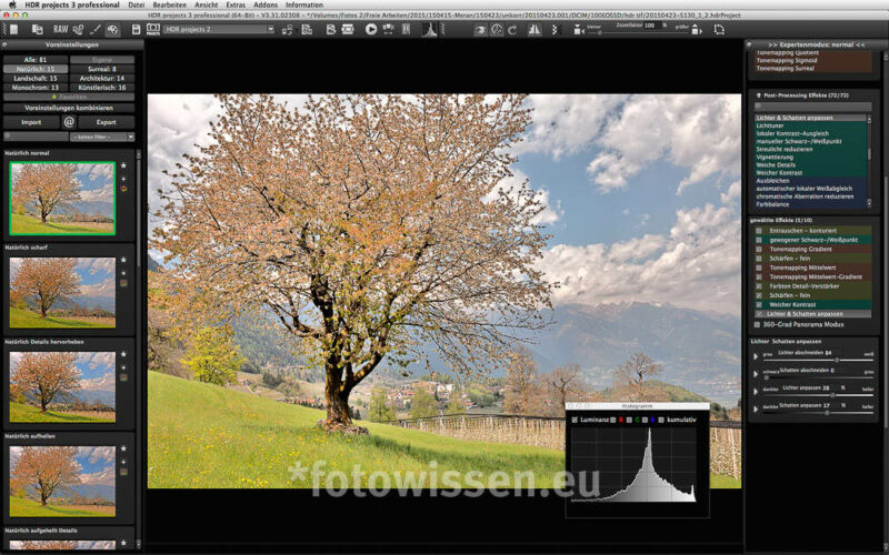 Software HDR Projects 3 Pro