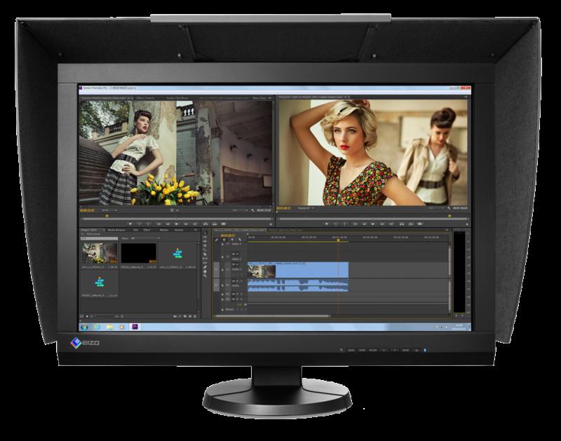Eizo CG247-BK 61 cm - der beste Monitor für Fotografen mit eingebauter automatischer Kalibrierung