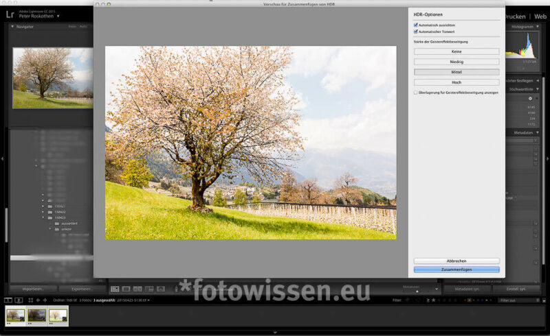 HDR mit Lightroom 6