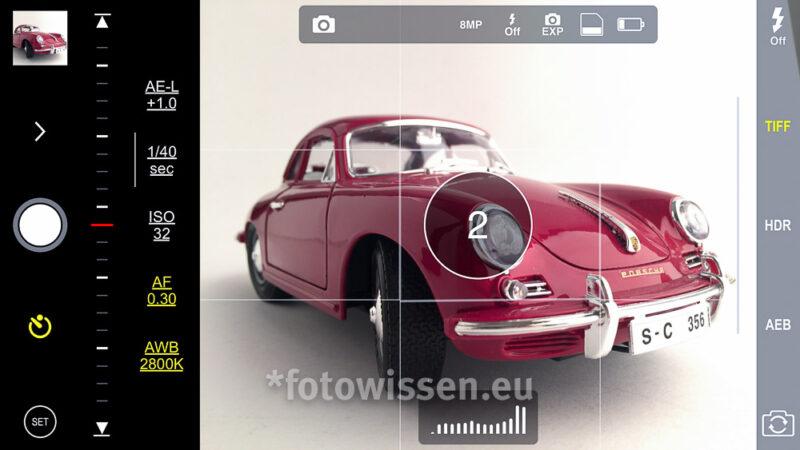 iPhone Kamera Foto App ProCam