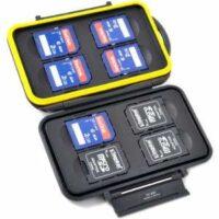 Wasserdichte Speicherkarten Schutzbox für 8 SDHC / SDXC - Datensicherung Fotos unterwegs