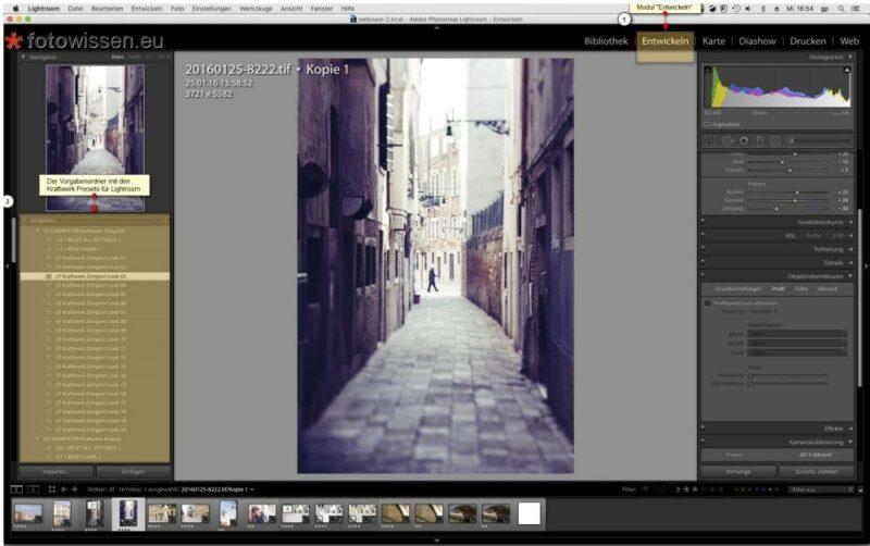 Lightroom Bildbearbeitung Vorgaben