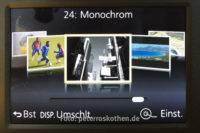 Monochrom im Szenenprogramm (Motivprogramm) auswählen