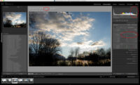Screenshot von Lightroom korrigiertes RAW