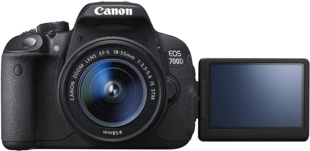 Canon EOS 700D SLR-Digitalkamera (18 Megapixel) Kit inkl. EF-S 18-55mm