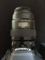 Canon EF 100mm f2.8 Makro - Markteinführung 1990 noch ohne USM Autofokus