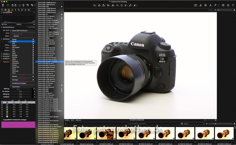 RAW Konvertert für die Canon EOS 5D Mark IV - Capture One Pro