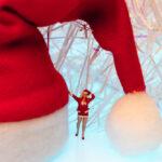 Die kleine Weihnachtsfrau im Miniatur Land