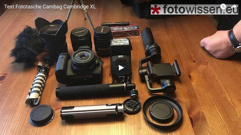 Test Fototasche Cambag Cambridge XL