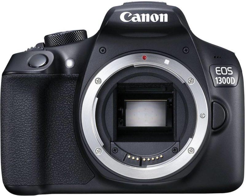 canon-eos-1300d-ohne-Canon EOS 1300D ohne Objektiv - APS-C Sensor zu sehen