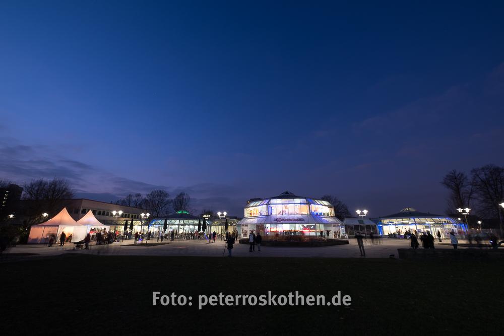 Blick auf die Orangerie - Gruga Parkleuchten 2017 in Essen