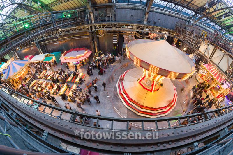 Steampunk Jahrhunderthalle Bochum Draufsicht