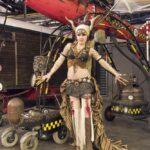 Steampunk Galathea posiert für die Kamera in Bochum