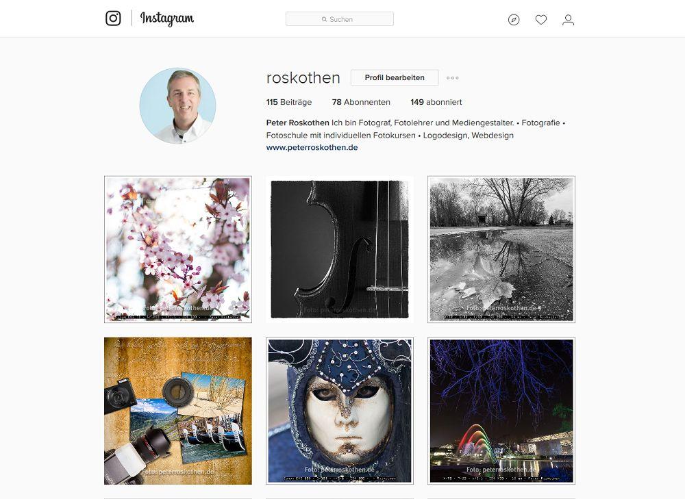 Instagram Bilder - Fotos ausstellen