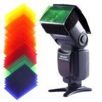 35 Stück Farbfolien Blitz Gele - Künstliche Sonne mit entfesseltem Blitzen