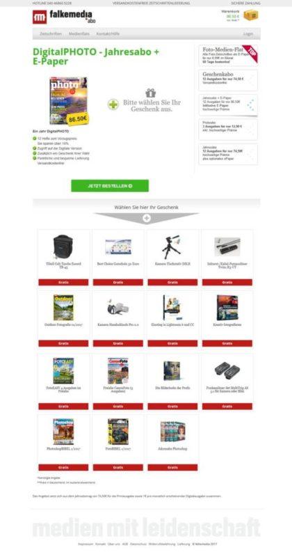 Jahresabo Digitalphoto mit Geschenken zur Auswahl