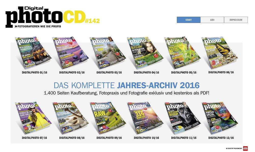 Digitalphoto Jahresarchiv 2016 als PDF