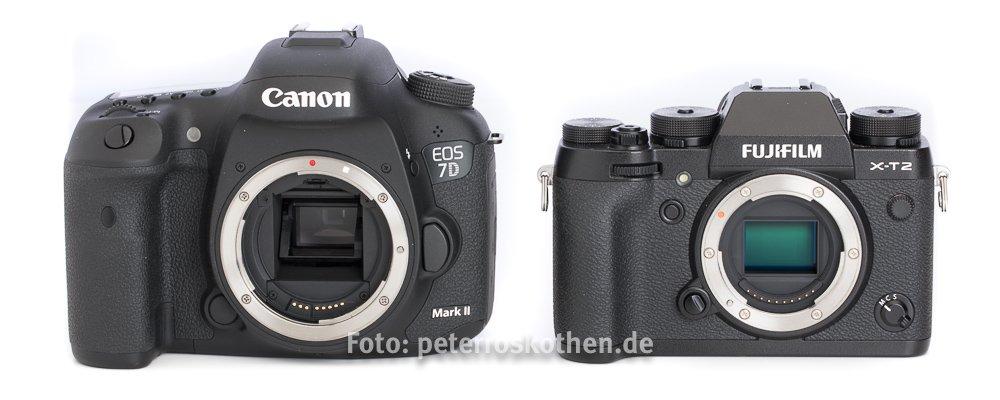 Spiegelreflex versus spiegellose System-Kamera Vergleich
