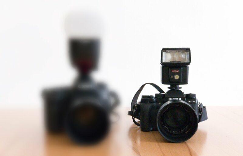 Offenblende Vergleich Spiegellose Systemkamera versus Spiegelreflex