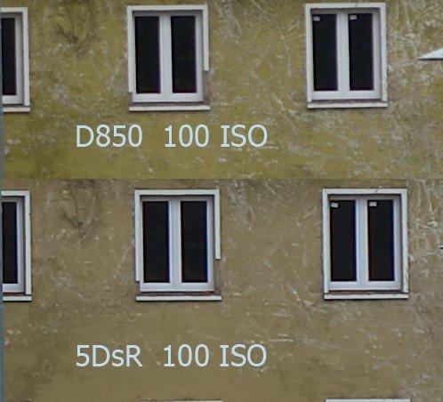 Vergleich Nikon D850 – Canon 5DsR bei ISO 100