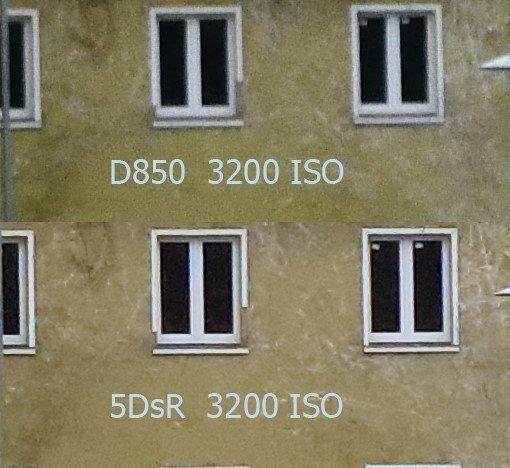 Vergleich Nikon D850 – Canon 5DsR bei ISO 3200