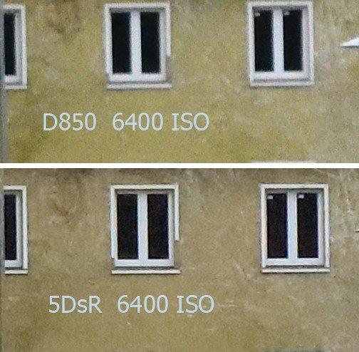 Vergleich Nikon D850 – Canon 5DsR bei ISO 6400