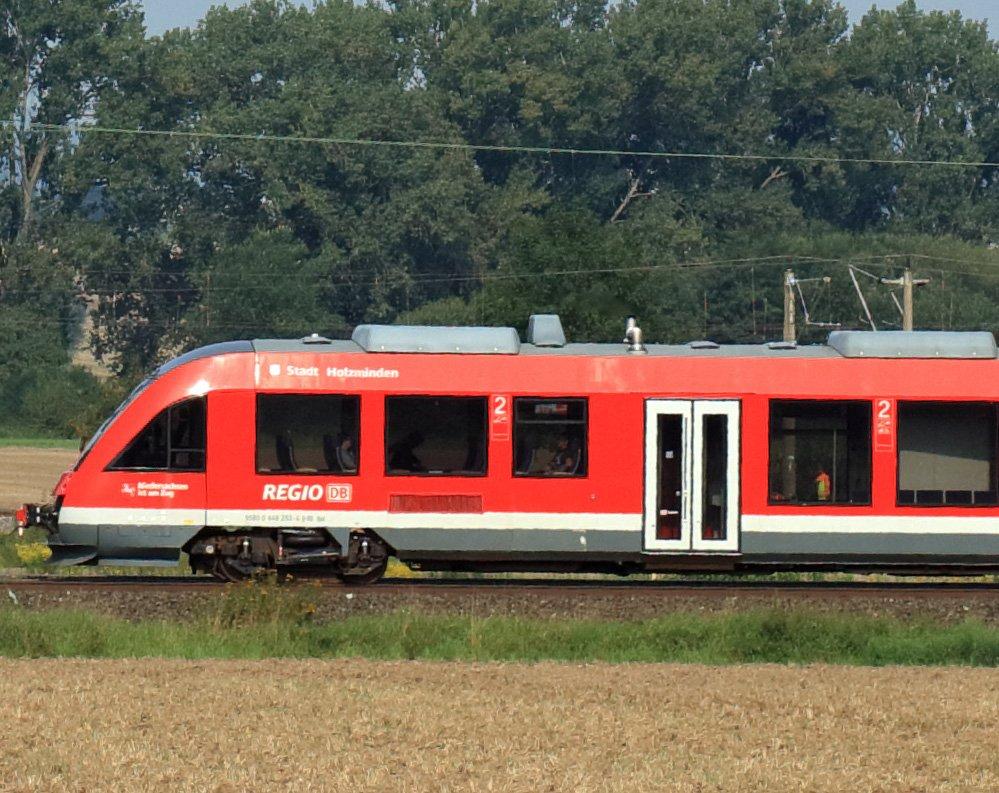 Triebwagen mit etwa 100 km/h - 100%-Ausschnitt