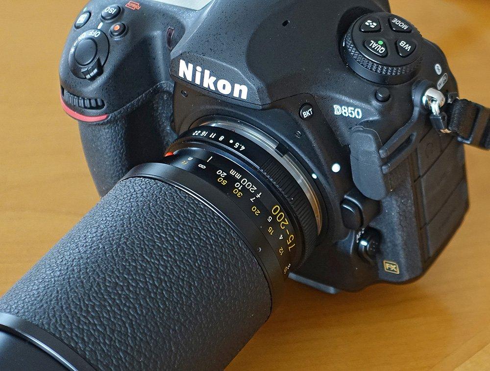 Leitz 4.5/75-200 an Nikon D850