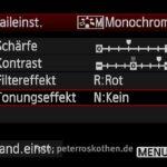 Canon Detaileinstellungen Monochrom