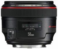 Canon 50mm F/1.2 Normalobjektiv