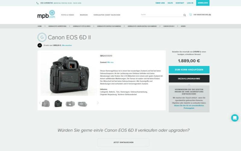 Gebrauchte Kamera kaufen oder verkaufen - mpb.com