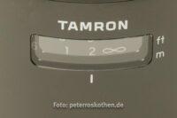 Entfernungsskala Normalobjektiv Tamron 45mm