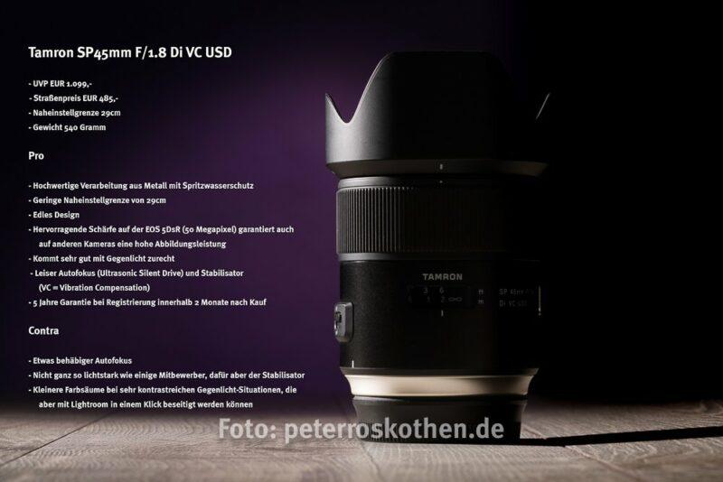 Pro und Contra Tamron SP 45mm
