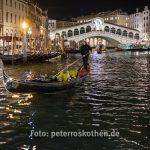 Bilder Venedig bei Nacht 2018 - Canal Grande, Rialtobrücke
