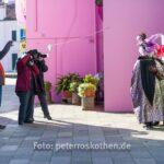 Fototermin mit Masken auf Burano