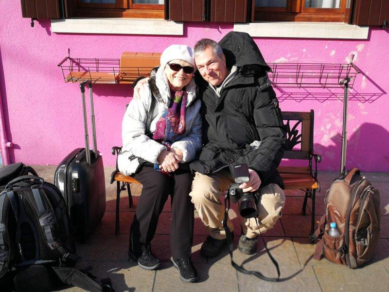 Peter Roskothen mit Erna auf Burano
