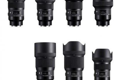 Sigma kündigt 9 neue Art-Objektive für Sony E-Mount Kameras mit Vollformat-Sensor an