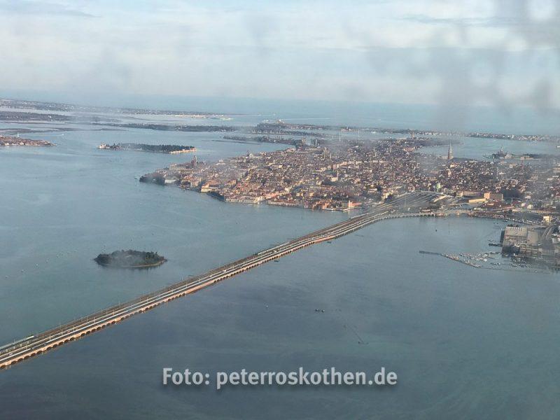 Venedig aus dem Flugzeug